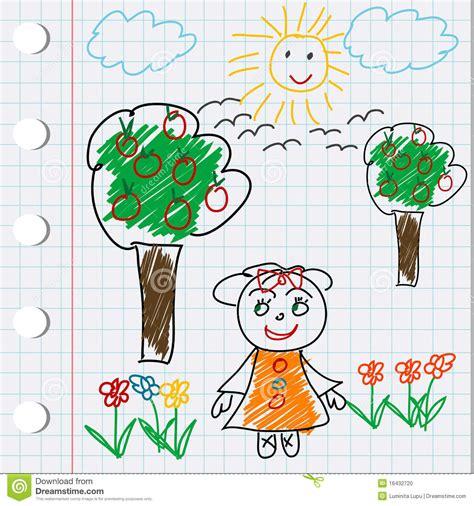 doodle animado do desenho do doodle dos desenhos animados gril foto de