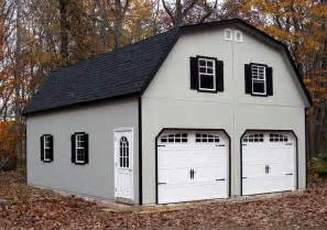 24x30 Garage by 24x30 2 Car Garage With Gambrel Barn Style Roof Built