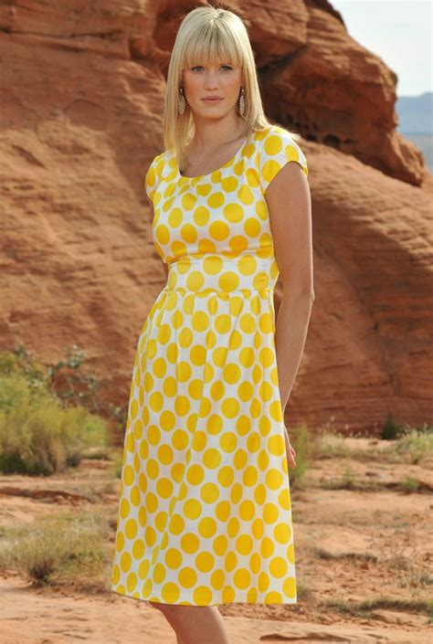 Dress Modist Vest yellow polka dot pretty for easter science projects summer dresses sleeved