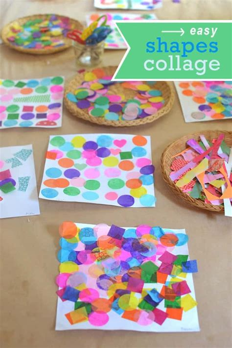 creative ways to make picture collages easy shapes collage and math activity nurturestore
