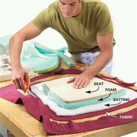 how to upholster a bench cushion how to upholster a chair seat for the home pinterest
