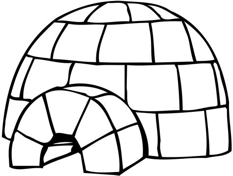 Coloring Page For Igloo | igloo coloring pages 12