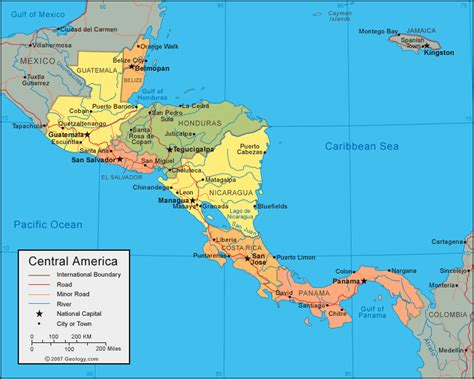 south america map central america physical map of south america and central america