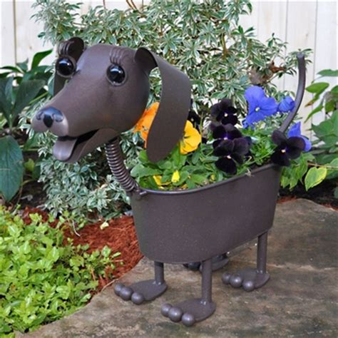 dachshund planter heidi the dachshund dog planter only 37 99 at garden fun