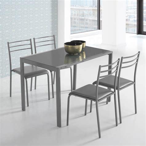 conjunto de mesa   sillas alfa en colores muebles baratos