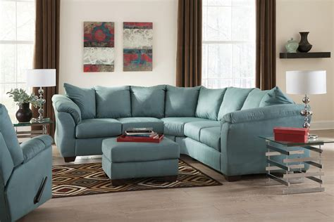 ashley furniture darcy sofa chaise darcy sky 75006 by signature design by ashley del