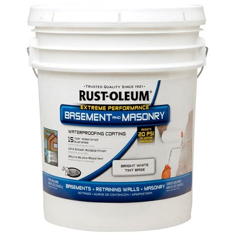 rust oleum 5 gal waterproofing paint 260389 the home depot