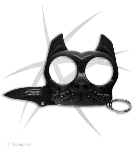 self assisted knives mini brutus self defense keychain black assisted