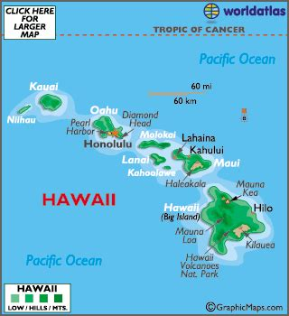 map of hawaii islands geography of hawaii world atlas