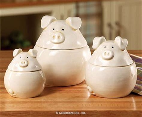 3pc piglets canister set pigs piglets pinterest piglets canister sets and canisters
