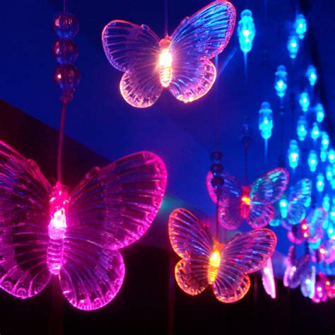 butterfly lights bead butterfly lights multicolor led lighting string