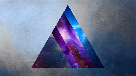 space prism triangle hd wallpapers desktop  mobile