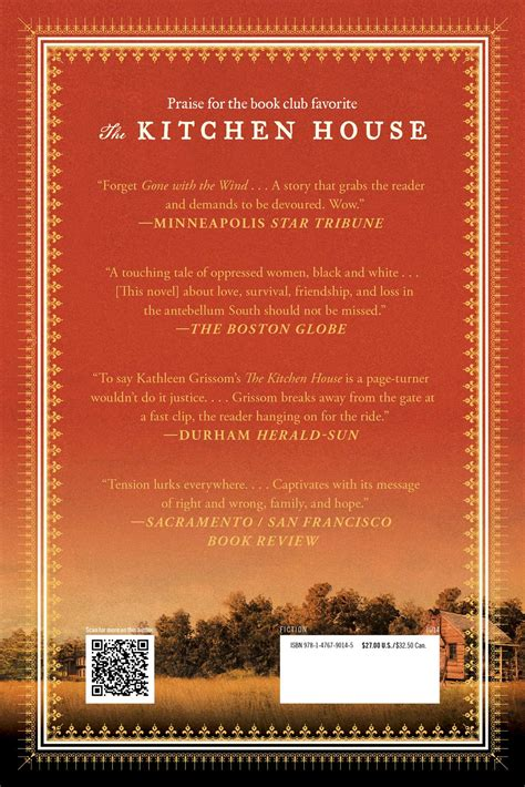 Kitchen House Book by The Kitchen House Book By Grissom Official