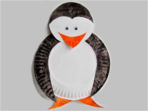 Paper Plate Penguin Craft - craft ideas for craft projects for