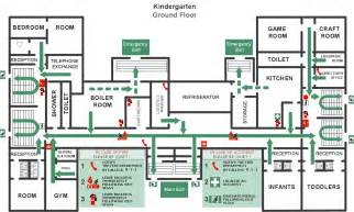 emergency evacuation plan template and emergency plans solution conceptdraw