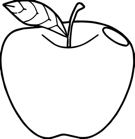 single leaf coloring page apple coloring page with the series 1 trashpack character