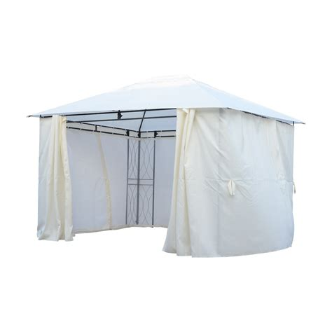 Outdoor Mesh Curtains Outsunny Event Patio Gazebo With Mesh Drapery And Curtains White Only A Few Left