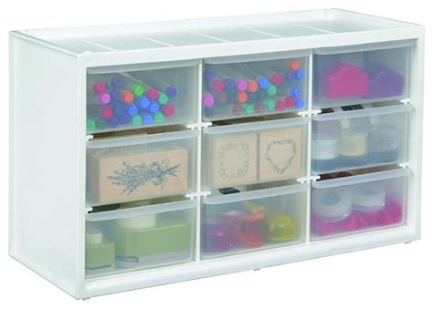 art bin store in drawer cabinet translucent