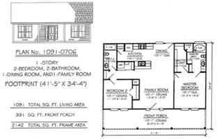 One Story Two Bedroom House Plans by Gallery For Gt Simple One Story 2 Bedroom House Plans