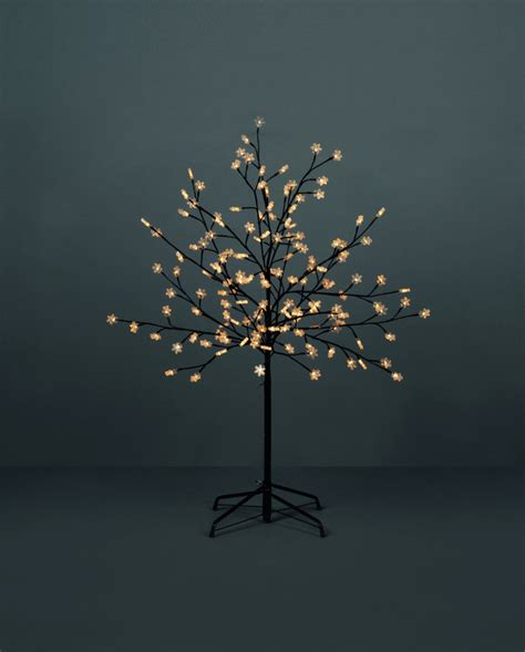 tree with lights 5ft bright white led lights snowflake artificial tree
