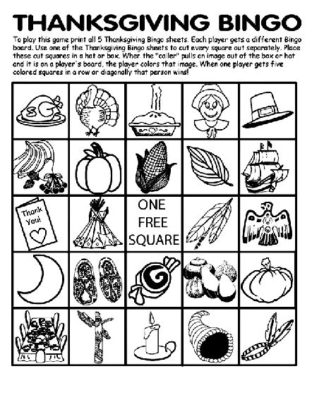 crayola thanksgiving coloring pages printables thanksgiving bingo board no 1 coloring page crayola com