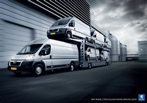 peugeot ad peugeot boxer quot pulling power quot print ad by grey