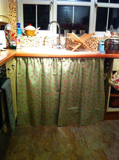 under the sink curtain pin by stacey s on kitchen pinterest