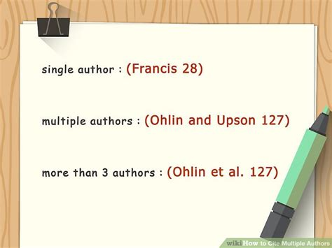 ways  cite multiple authors wikihow