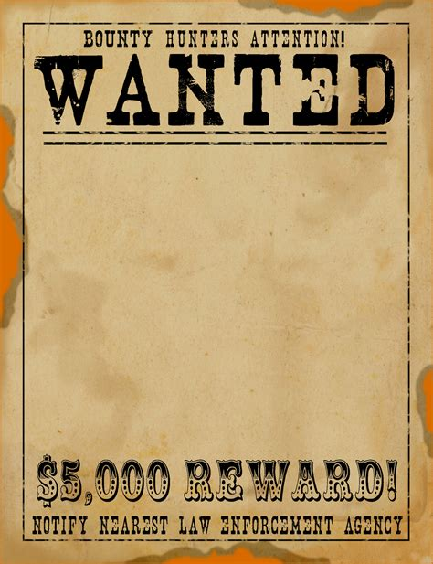 vintage templates for word 7 wanted poster template microsoft word