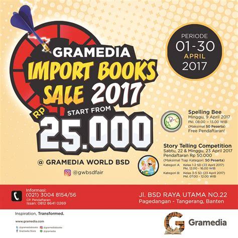 Sale Buku Gramedia 13 gramedia import books sale gramedia world bsd tangerang 1 30 april 2017 haievent