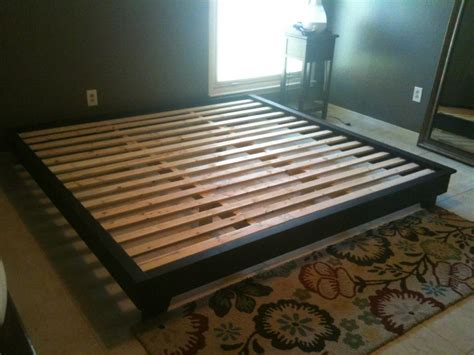 Diy Queen Platform Bed Frame Plans Quick Woodworking How To Build King Size Bed Frame