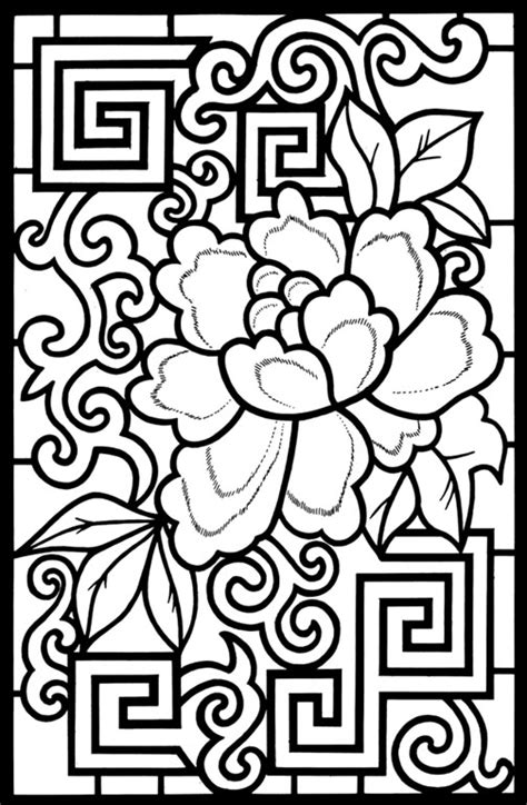 coloring book page designs free printable coloring pages of cool designs