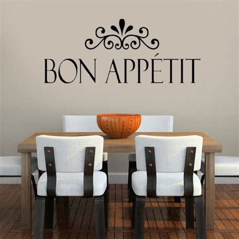 Living Room Word Wall Bon Appetit Kitchen Wall Stickers Home Decor Living Room