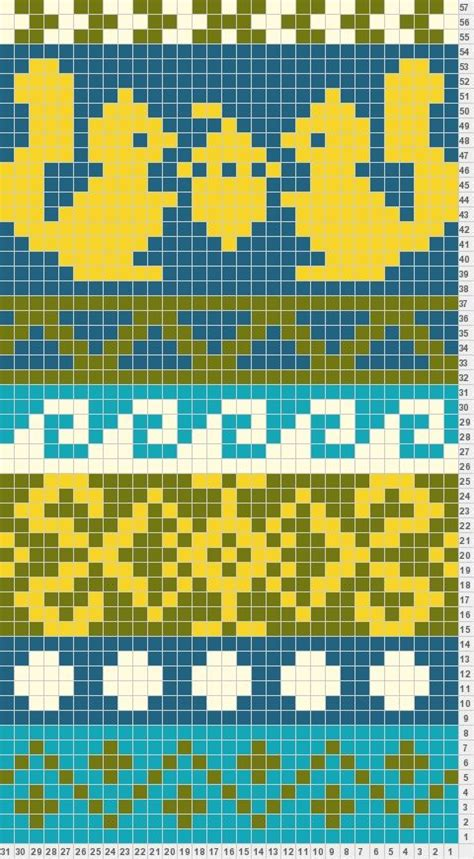 charting knitting patterns de 25 bedste id 233 er inden for fair isle strikning p 229