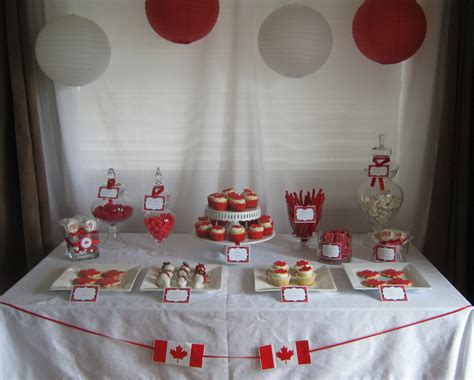50 canada day table decorations and cake canada day dessert table