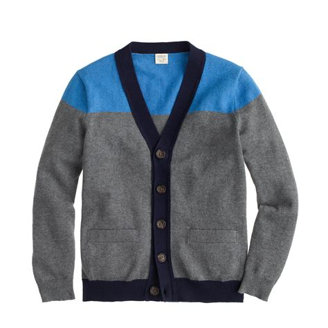 Sweater Boys boys tipped cotton cardigan sweater in