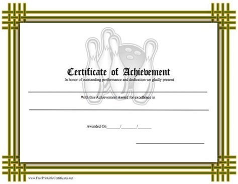 printable bowling gift certificates 35 best pe awards certificates images on pinterest