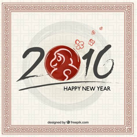new year monkey free painted new year monkey background vector free
