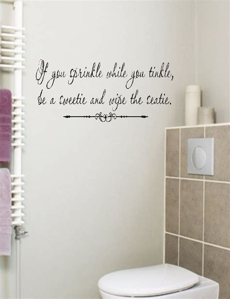 bathroom words if you sprinkle bathroom quote wall decal words lettering