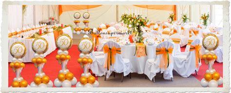 Goldene Hochzeit Dekoration by Ballonsupermarkt Onlineshop De Goldene Hochzeit