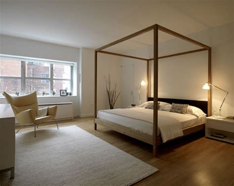 bed with posts modern four poster beds apartment therapy
