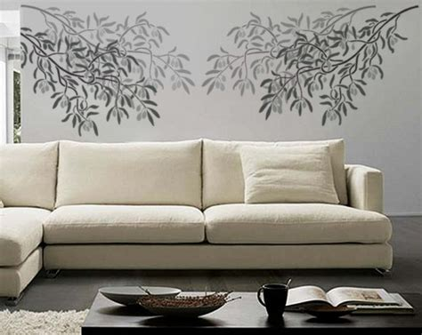 wall stencil olive branch reusable diy home decor