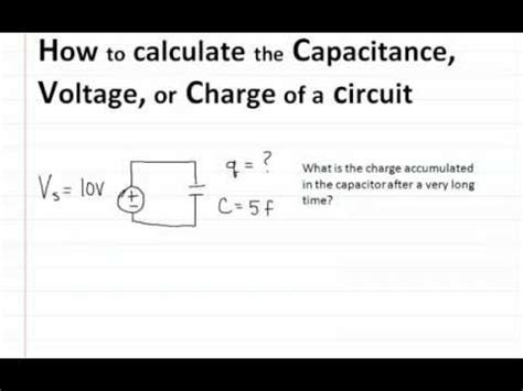 How To Find For A How To Find Capacitance