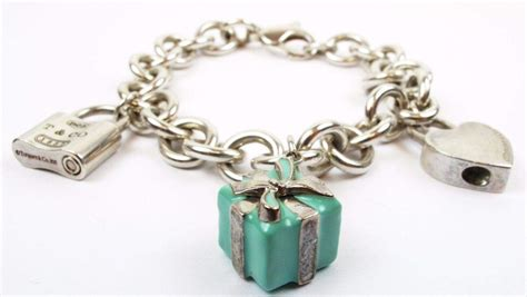 authentic co sterling silver charm bracelet with