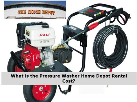 how much does it cost to rent a pressure washer in your area