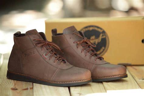 Sepatu Di Brodo jual sepatu boot kulit bradley anubis brown coklat brodo