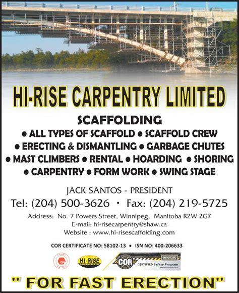 swing stage rental toronto hi rise scaffolding winnipeg mb 7 powers st canpages