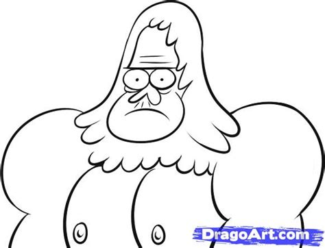 free coloring pages of skips from regular show