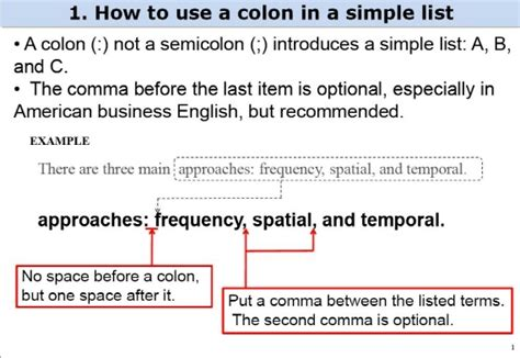 how to use spaces semi colon or colon