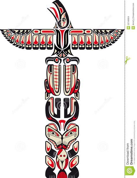 haida style totem pattern stock images image 23748904